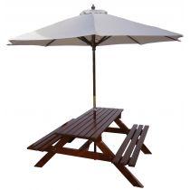 Ławostół z parasolem