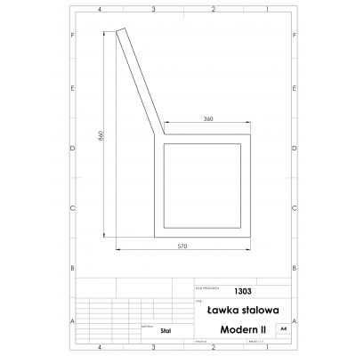 Ławka Modern II